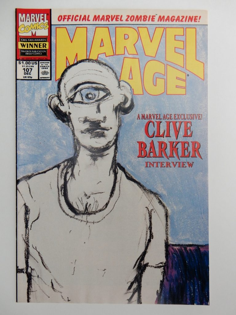 Marvel Age #107 with Clive Barker