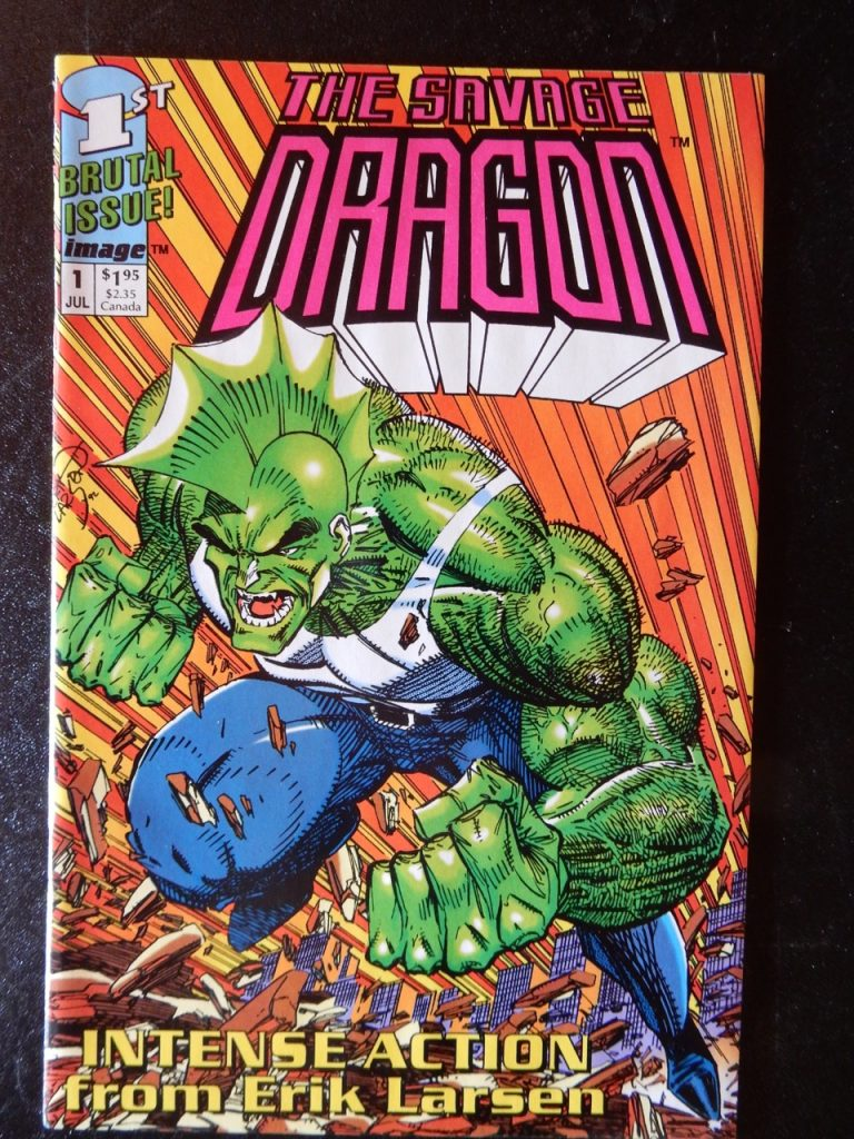 Savage Dragon #1 - Pink and White Logo Variant