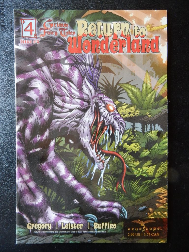 Return To Wonderland #4 - Cheshire Cat Cover by Al Rio