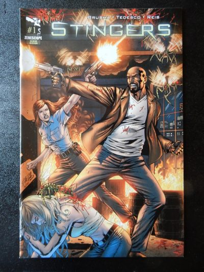 Stingers #1 - Supernatural Bounty Hunter Action Comic Book