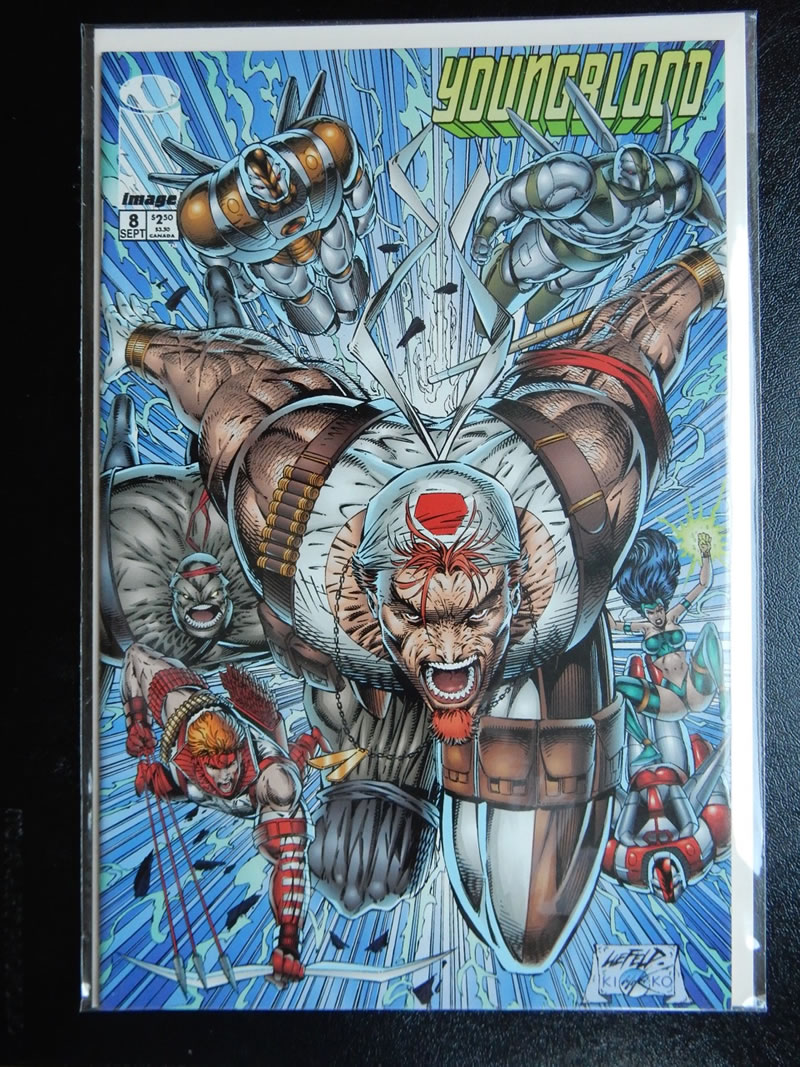 Youngblood #8 - Rob Liefeld Cover and Art