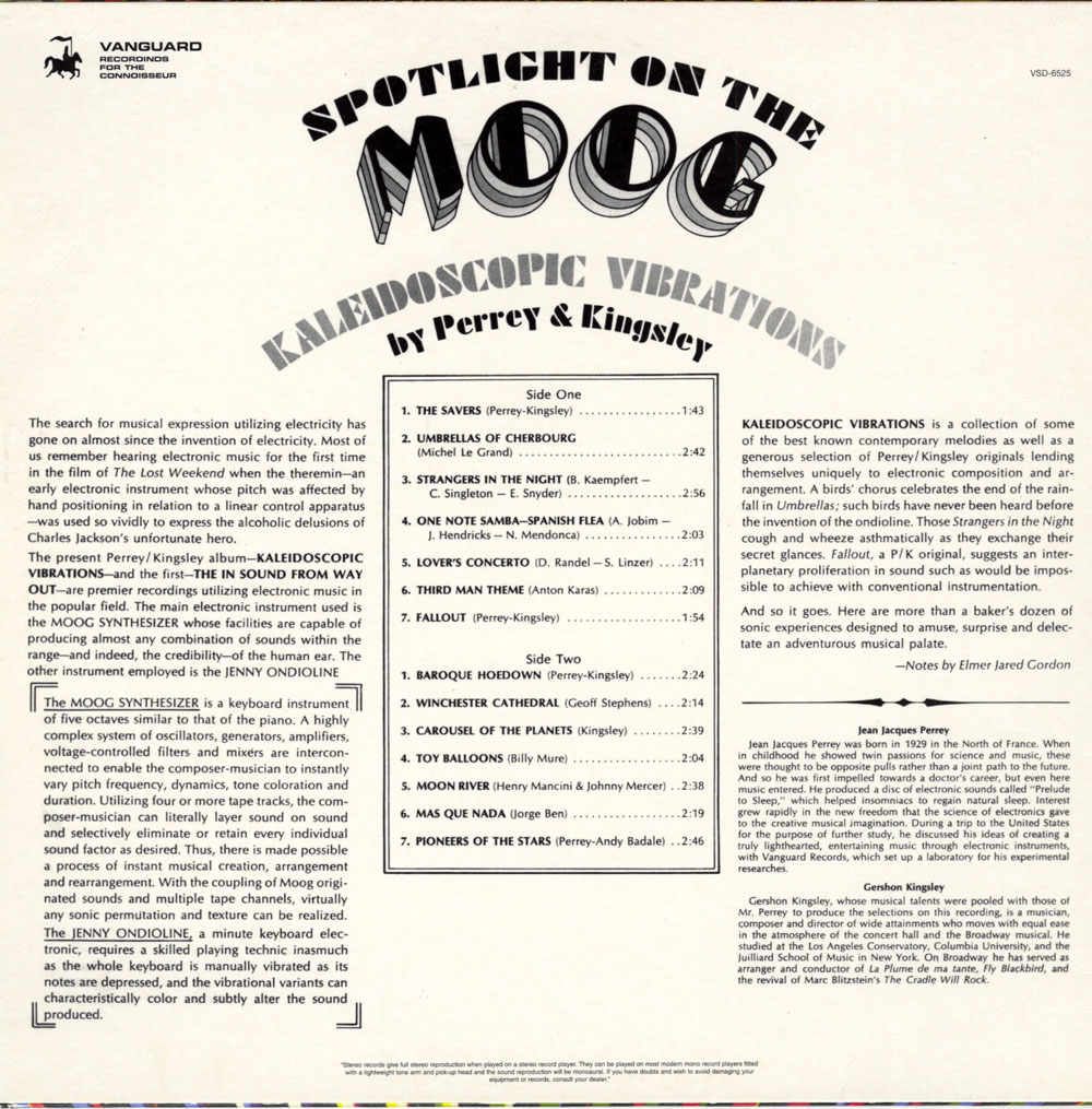 Spotlight on the Moog - back