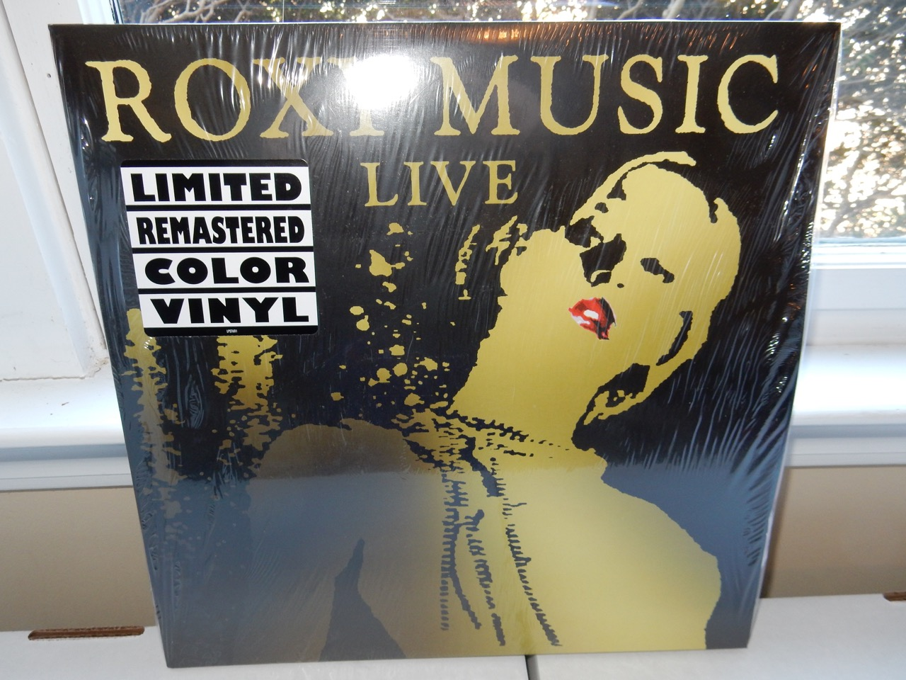 """Roxy Music """"Live"""" 3XLP Remastered Gold Colored Vinyl"""