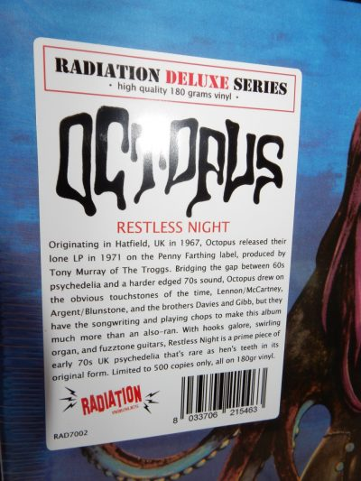 "Octopus ""Restless Night"" 180 Gram OGV Vinyl Reissue NEW"