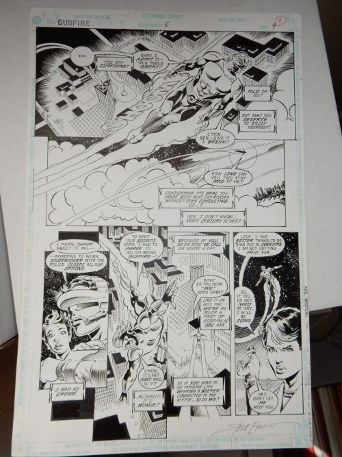 Gunfire #5 page 9 Original Art by Steve Erwin and Garvey 1994 DC Comics