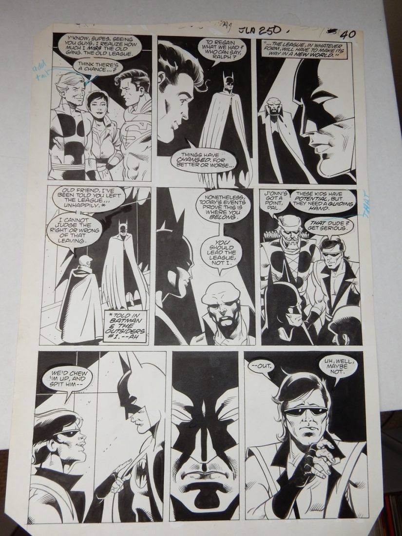 Justice League of America #250 page #40 by Luke McDonnell and Bill Wray 1986