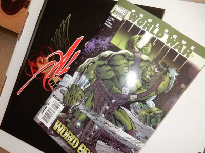 Al Rio Tribute Art Book Volume One PLUS Bonus World War Hulk