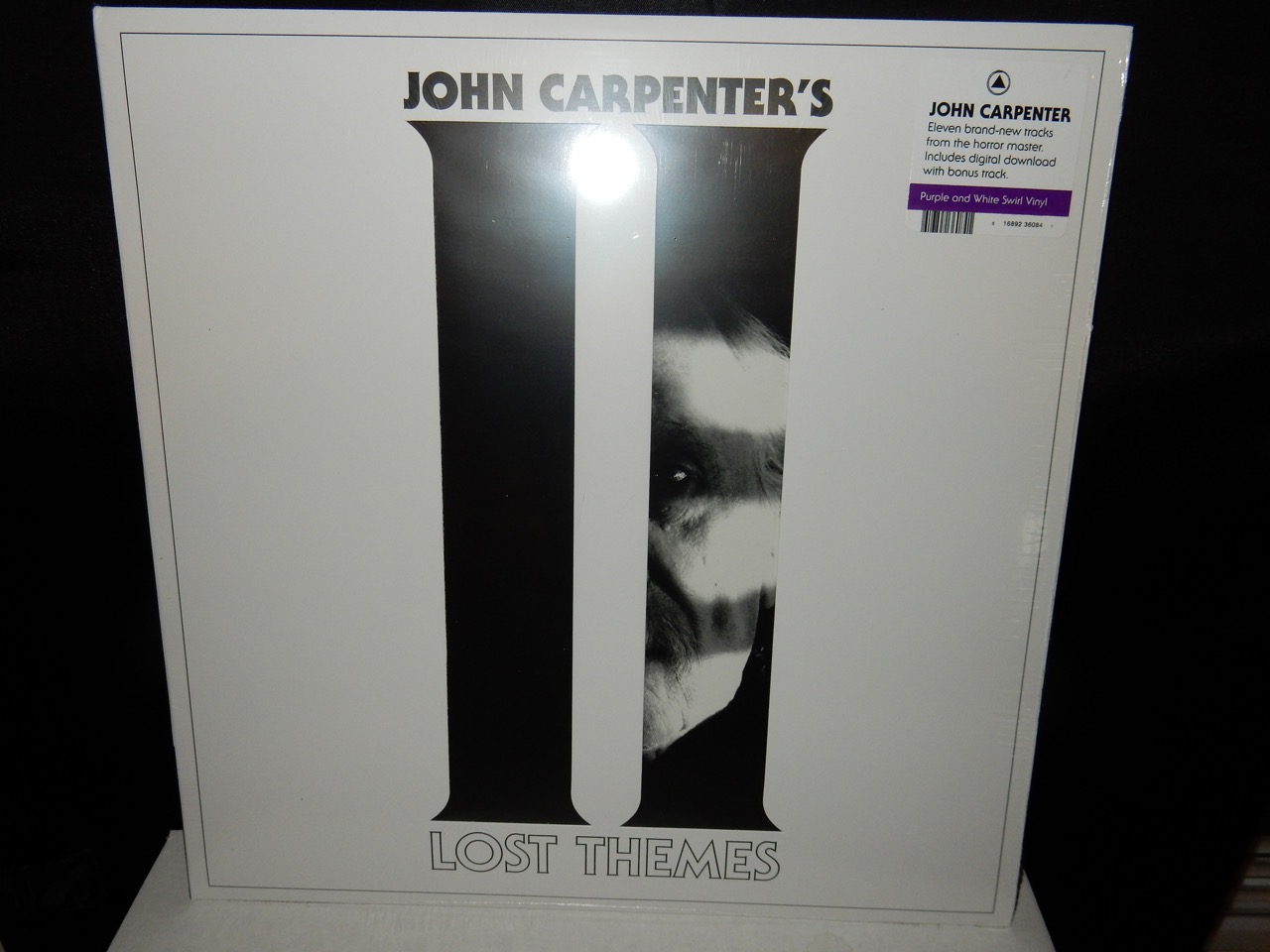 """John Carpenter """"Lost Themes II"""" Purple and White Swirl Colored Vinyl with Download"""