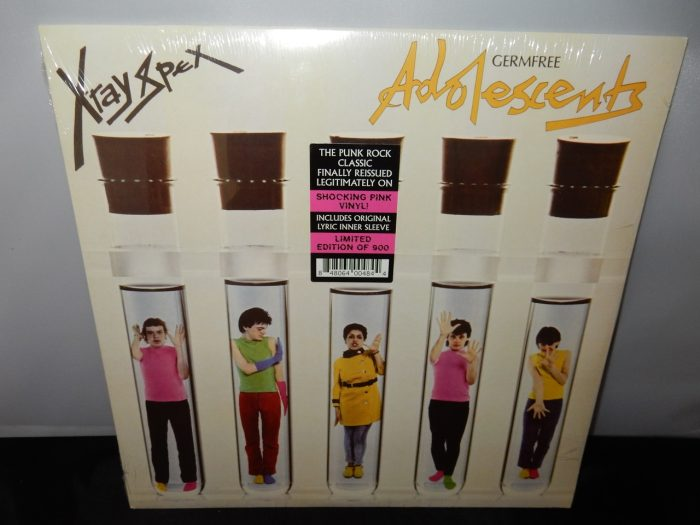 "X-Ray Spex ""Germfree Adolescents"" Limited Shocking Pink Colored Vinyl LP Reissue"
