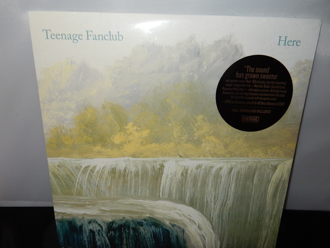 "Teenage Fanclub ""Here"" Limited Edition Clear Colored Vinyl Merge Records 2016"