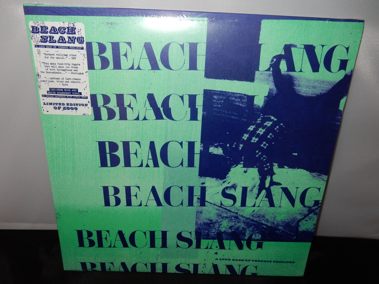 "Beach Slang ""A Loud Bash Of Teenage Feelings"" White Starburst & Reflex Blue Vinyl"