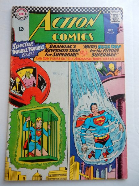 Action Comics #339 Silver Age DC - Artist Curt Swan, Brainiac, Muto, Supergirl