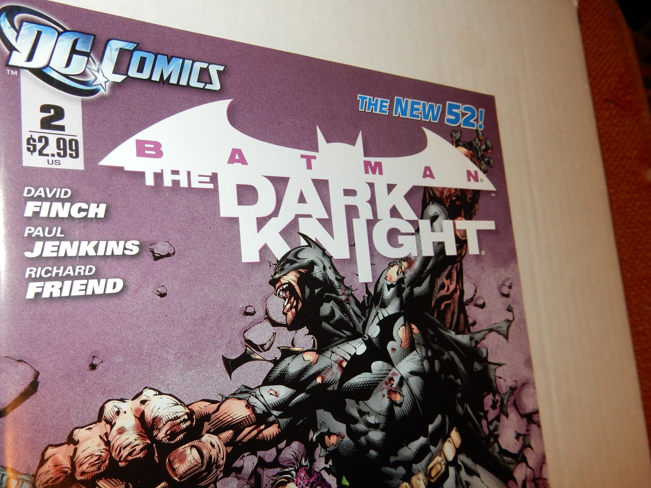 Batman: The Dark Knight #2 2011 New 52 David Finch, Two-Face