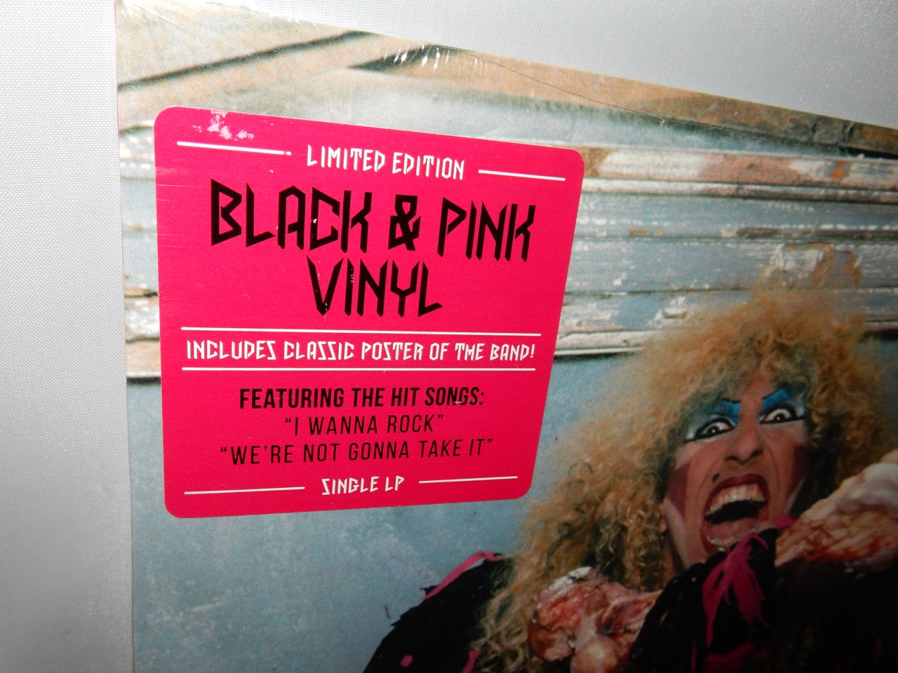 """Twisted Sister """"Stay Hungry"""" Reissue Vinyl LP Black and Pink Colored Vinyl"""