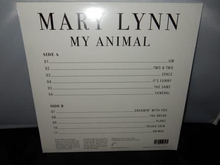 "Mary Lynn ""My Animal"" Clear Vinyl LP Anyway Records"
