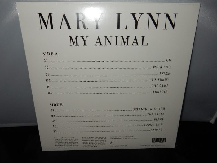 "Mary Lynn ""My Animal"" Clear Vinyl LP Anyway Records"