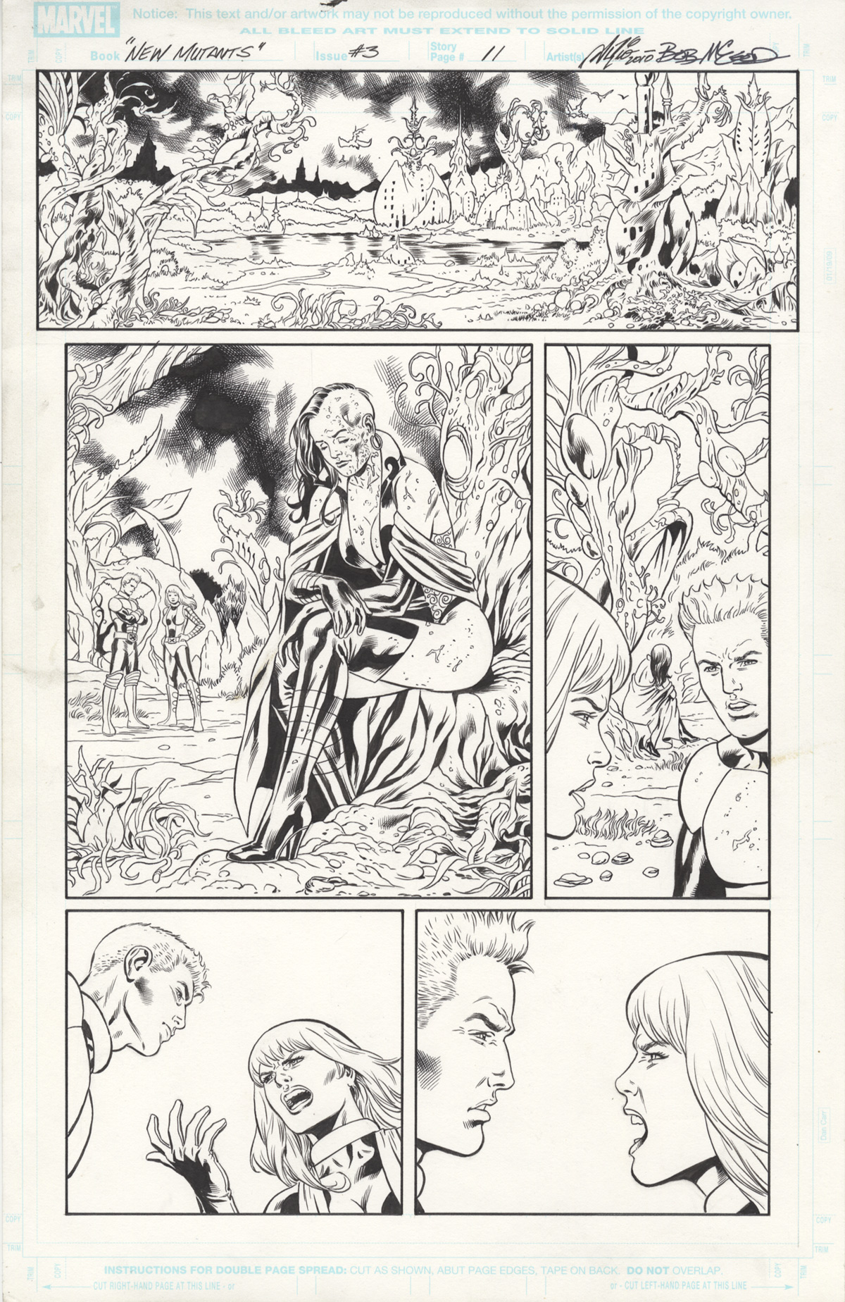 New Mutants Forever #3 page 11 Original Art by Al Rio and Bob McLeod