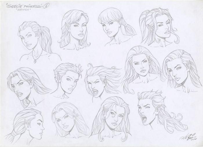 Seelie Princess Model Sheet Art