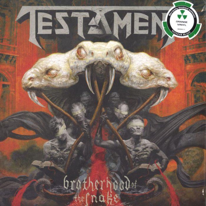 "Testament ""Brotherhood Of The Snake"" 2XLP Ltd Ed Colored Vinyl Gatefold Sleeve"