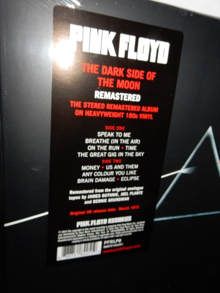 "Pink Floyd ""The Dark Side Of The Moon"" 180 Gram 2XLP Vinyl Reissue 2016"
