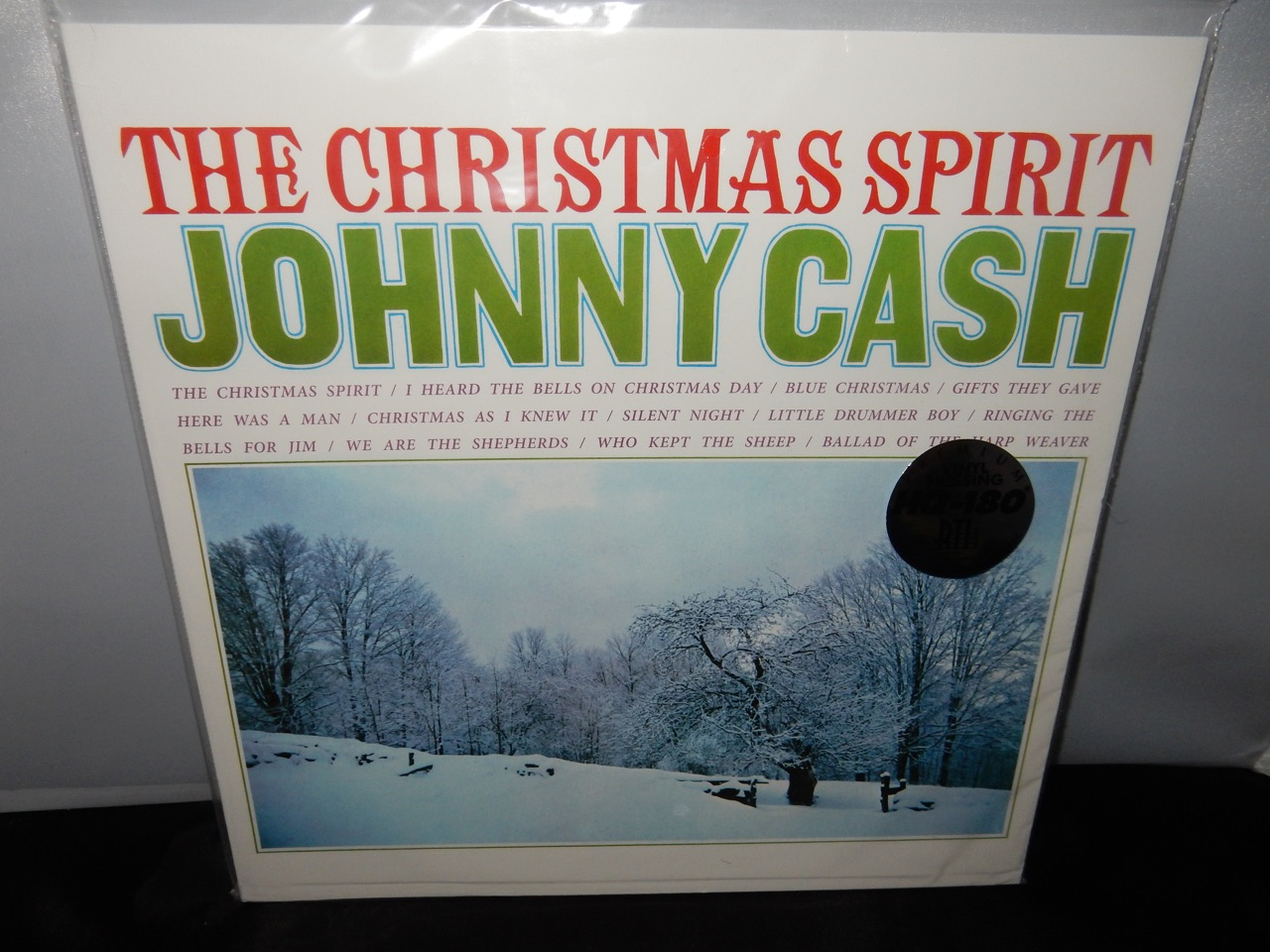 "Johnny Cash ""The Christmas Spirit"" Ltd Ed Red Colored 180G Vinyl ..."