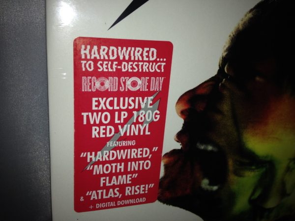 "Metallica ""Hardwired To Self Destruct"" Red Colored 2XLP Vinyl 2016 New Sealed"