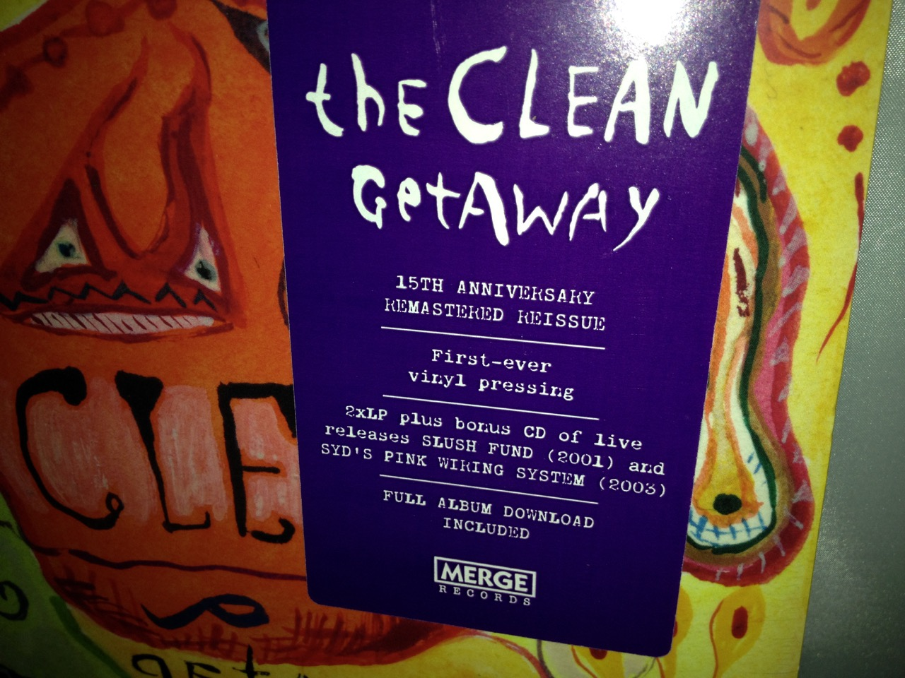 "The Clean ""Getaway"" Double Vinyl LP Remastered 2016"
