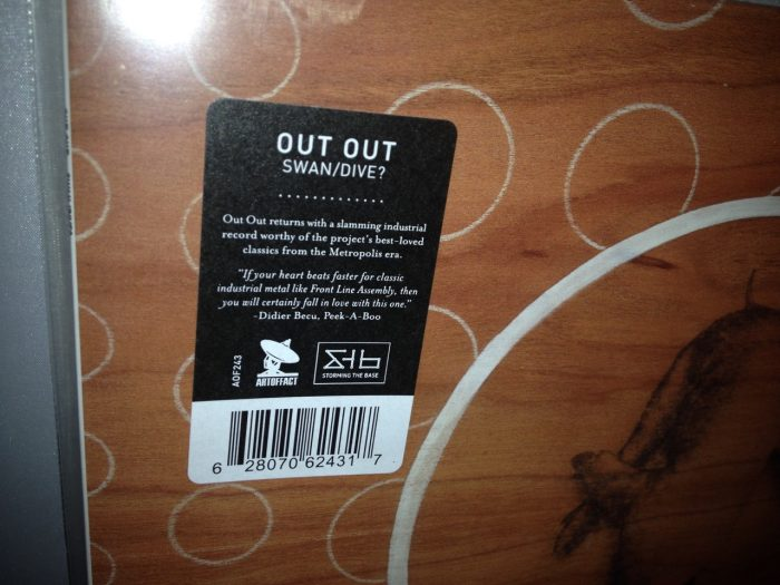 """Out Out """"Swan/Dive?"""" Vinyl LP Industrial Electronic Rock, new 2016"""