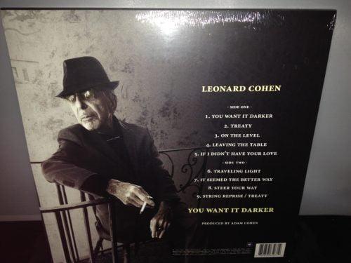"Leonard Cohen ""You Want It Darker"" Limited Edition 180 Gram Vinyl"