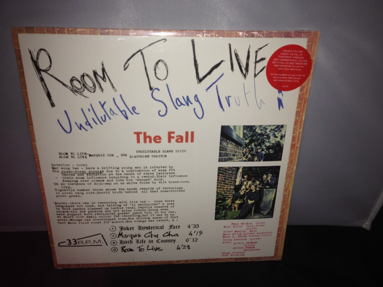 room to live the fall the fall room to live 2016 vinyl lp reissue new buy my 21112