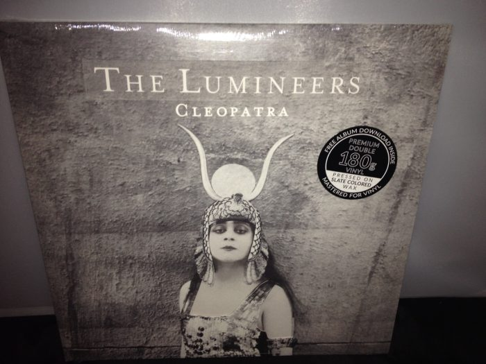 Deluxe double slate colored vinyl LP pressing with exclusive die cut cover