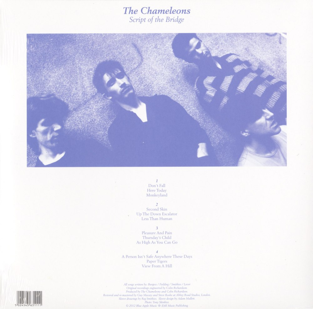 "The Chameleons ""Script Of The Bridge"" 2XLP 180 Gram, Abbey Rd Remaster, 2014"