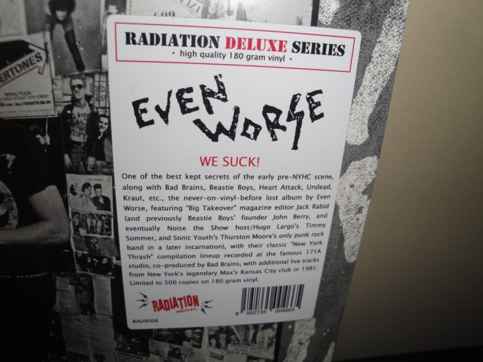 "Even Worse ""We Suck!"" 2017 180 Gram Limited Edition Vinyl LP"