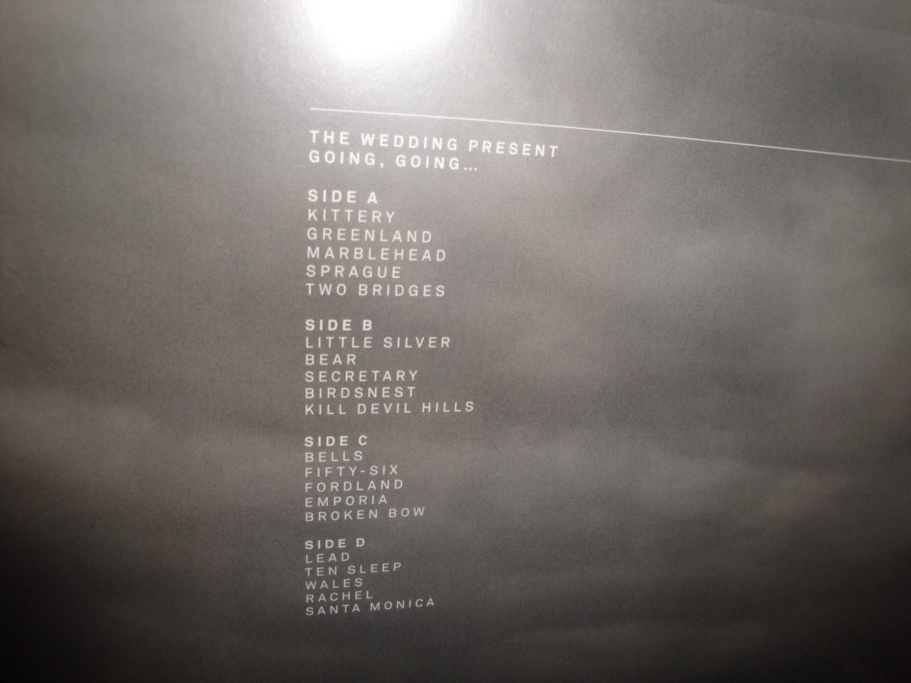 "The Wedding Present ""Going, Going..."" Double Vinyl LP and DVD 2017"