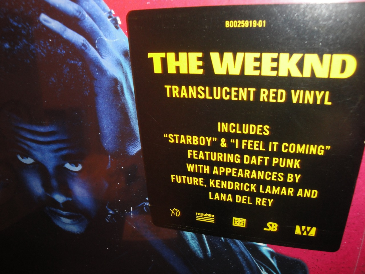 "The Weeknd ""Starboy"" Double Vinyl LP 2017 Republic Records"