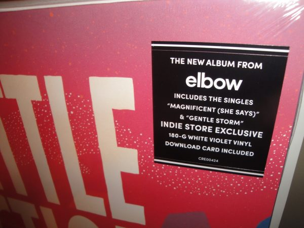 "Elbow ""Little Fictions"" Limited Edition White Violet Colored Vinyl LP"