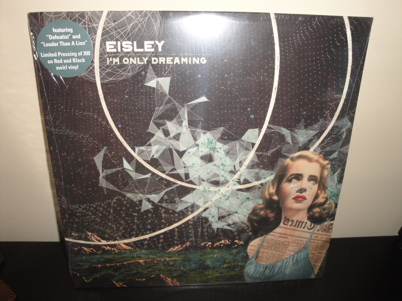 Eisley - I'm Only Dreaming - Ltd Ed of 300 Red, Black Swirl Colored Vinyl LP