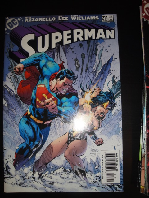 Superman #211 Azzarello, Jim Lee & Scott Williams w Wonder Woman 2005