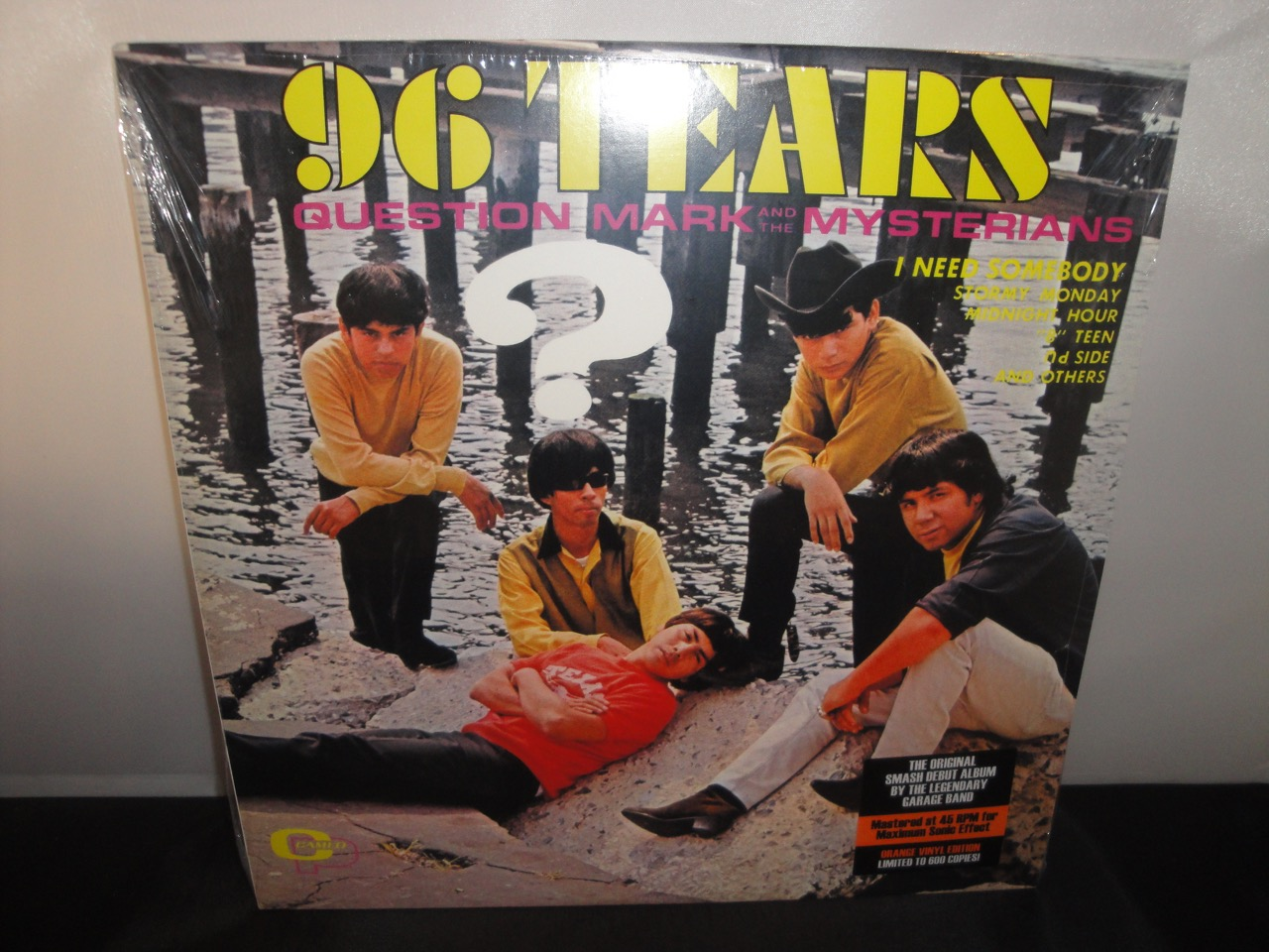 Question Mark & The Mysterians - 96 Tears - 2017 Ltd Ed, 45 RPM, Orange Colored Vinyl