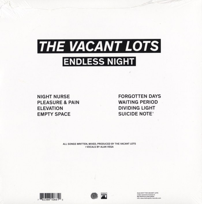 The Vacant Lots - Endless Night - Limited Edition, Vinyl LP - 2017