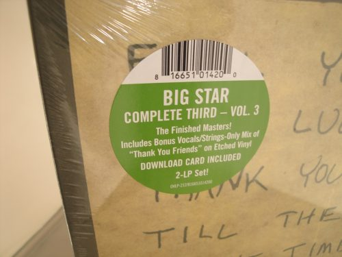 Big Star - Complete Third: Vol. 3: Final Masters - 2XLP Vinyl 2017