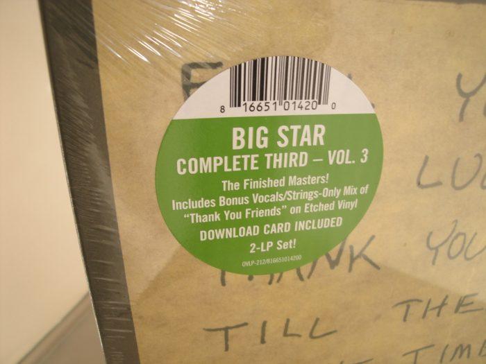 Big Star - Complete Third: Vol. 3: Final Masters - 2XLP Vinyl 2017