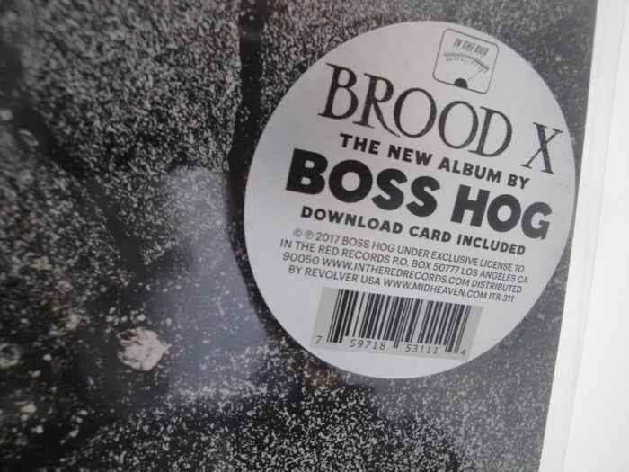 Boss Hog - Brood X - Vinyl LP Fold-out Gatefold 2017
