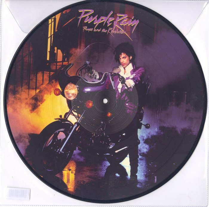 Limited vinyl picture disc LP pressing. Purple Rain is the sixth studio album by Prince, the first to feature his backing band The Revolution