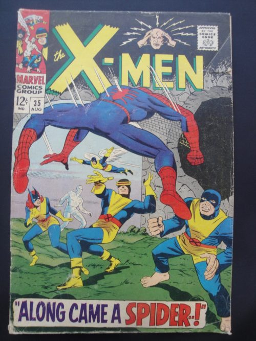 X-Men #35 - 1967 - Silver Age - Spider-Man Crossover, Stan Lee