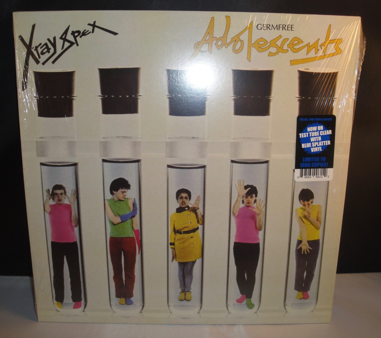 X-Ray Spex - Germfree Adolescents - Limited Clear and Blue Splatter Vinyl, 2017