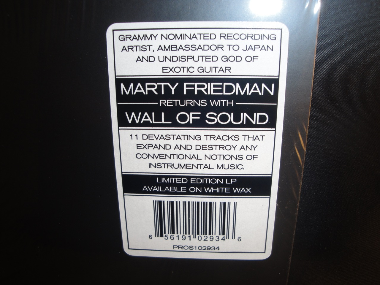 Marty Friedman - Wall Of Sound - Ltd Ed White Vinyl, 2017, Heavy Metal