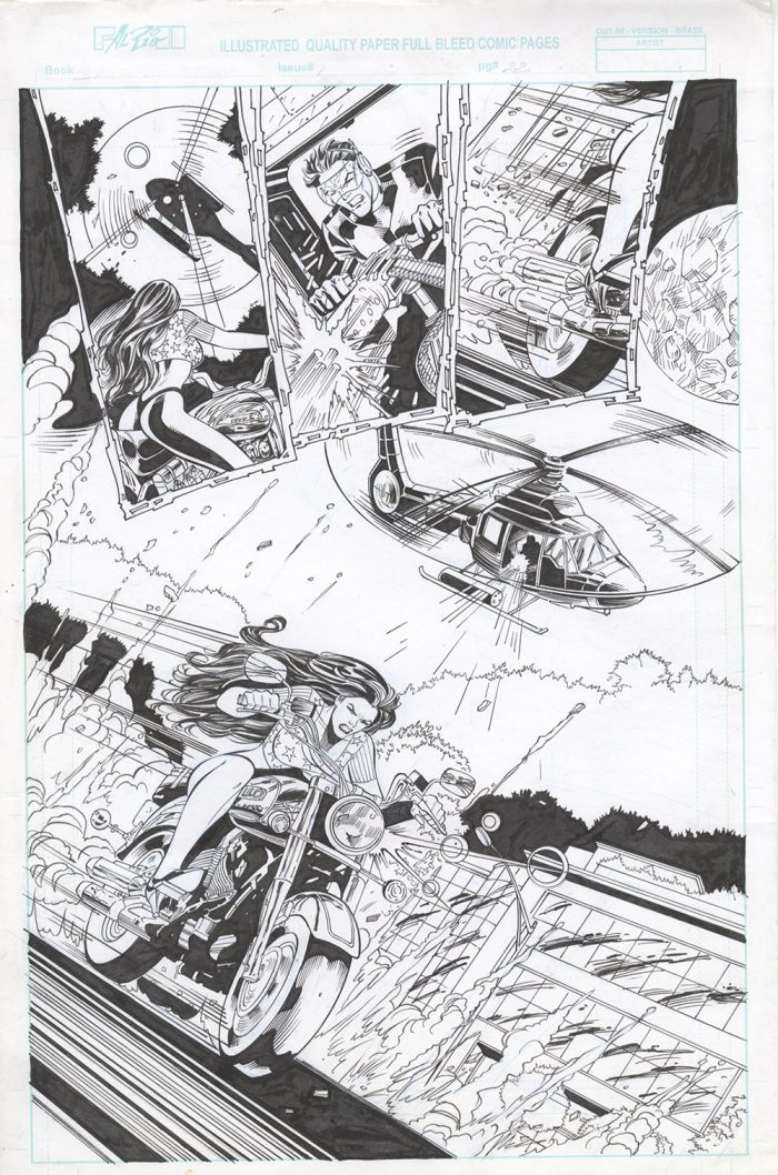 Bastard Stew Original Art by Al Rio, Page 22, Splash Page