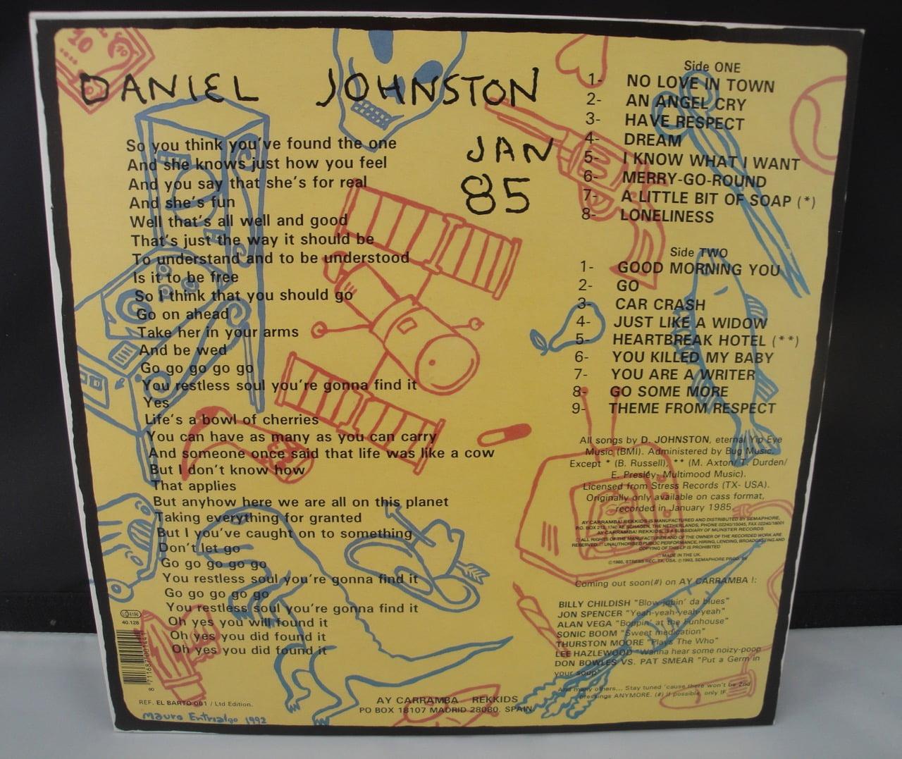 "Daniel Johnston - Respect - Limited Edition Vinyl, LP, 10"", 1993"