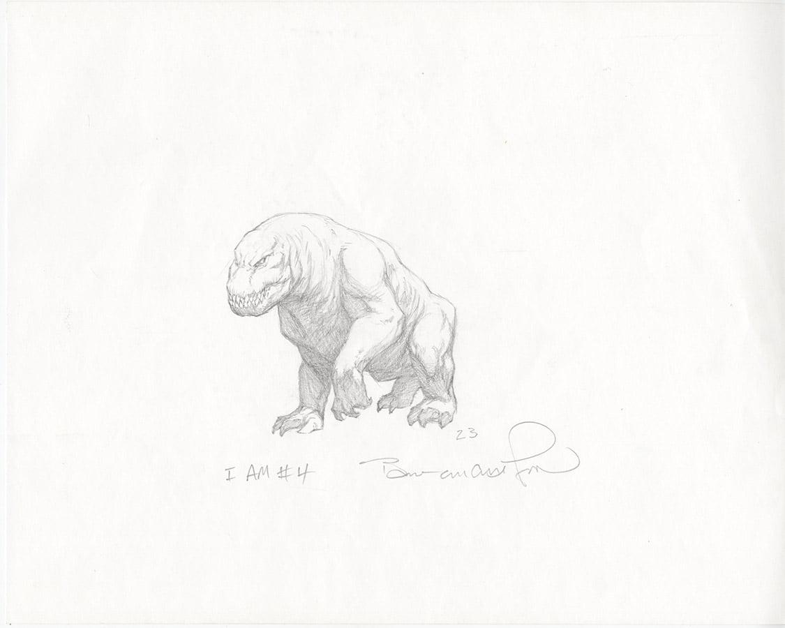 "BERNIE WRIGHTSON original art ""I Am Number 4"" Movie Creature Concept Art"
